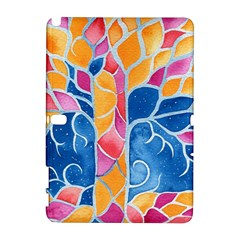 Yellow Blue Pink Abstract  Samsung Galaxy Note 10.1 (P600) Hardshell Case