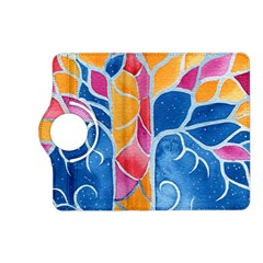 Yellow Blue Pink Abstract  Kindle Fire HD (2013) Flip 360 Case