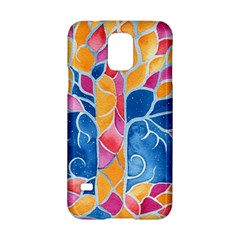 Yellow Blue Pink Abstract  Samsung Galaxy S5 Hardshell Case