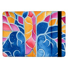 Yellow Blue Pink Abstract  Samsung Galaxy Tab Pro 12.2  Flip Case