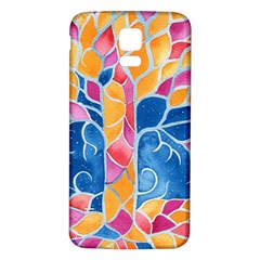 Yellow Blue Pink Abstract  Samsung Galaxy S5 Back Case (White)