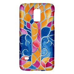 Yellow Blue Pink Abstract  Samsung Galaxy S5 Mini Hardshell Case