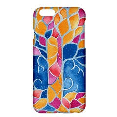 Yellow Blue Pink Abstract  Apple iPhone 6 Plus Hardshell Case