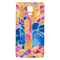 Yellow Blue Pink Abstract  Samsung Note 4 Hardshell Back Case