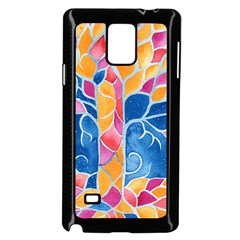 Yellow Blue Pink Abstract  Samsung Galaxy Note 4 Case (black)