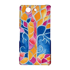 Yellow Blue Pink Abstract  Sony Xperia Z3 Compact Hardshell Case