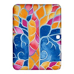 Yellow Blue Pink Abstract  Samsung Galaxy Tab 4 (10.1 ) Hardshell Case