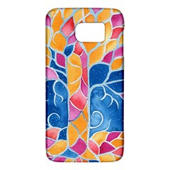 Yellow Blue Pink Abstract  Samsung Galaxy S6 Hardshell Case