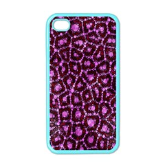 Cheetah Bling Abstract Pattern  Apple Iphone 4 Case (color)