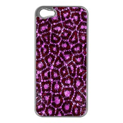 Cheetah Bling Abstract Pattern  Apple Iphone 5 Case (silver)