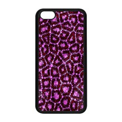 Cheetah Bling Abstract Pattern  Apple Iphone 5c Seamless Case (black)