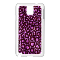 Cheetah Bling Abstract Pattern  Samsung Galaxy Note 3 N9005 Case (white)