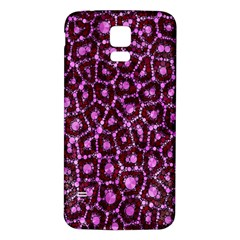 Cheetah Bling Abstract Pattern  Samsung Galaxy S5 Back Case (white)