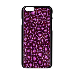 Cheetah Bling Abstract Pattern  Apple iPhone 6 Black Enamel Case