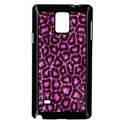 Cheetah Bling Abstract Pattern  Samsung Galaxy Note 4 Case (black)