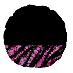 Pink Tiger Bling Large 18  Premium Flano Round Cushion