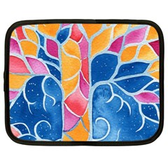 Yellow Blue Pink Abstract  Netbook Sleeve (xl)