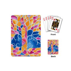 Yellow Blue Pink Abstract  Playing Cards (mini)