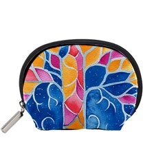 Yellow Blue Pink Abstract  Accessory Pouch (small)