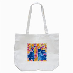 Yellow Blue Pink Abstract  Tote Bag (White)