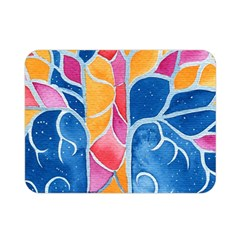 Yellow Blue Pink Abstract  Double Sided Flano Blanket (Mini)