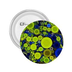Polka Dot Retro Pattern 2 25  Button
