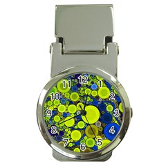 Polka Dot Retro Pattern Money Clip With Watch