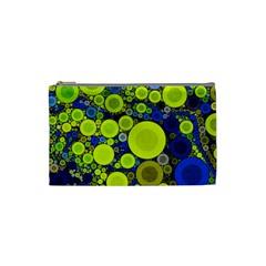 Polka Dot Retro Pattern Cosmetic Bag (small)