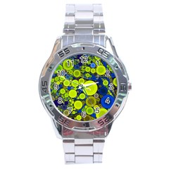 Polka Dot Retro Pattern Stainless Steel Watch