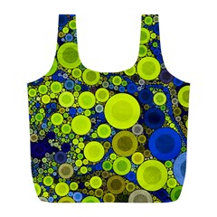 Polka Dot Retro Pattern Reusable Bag (l)