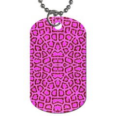 Florescent Pink Animal Print  Dog Tag (two Sided)