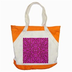 Florescent Pink Animal Print  Accent Tote Bag