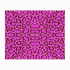 Florescent Pink Animal Print  Glasses Cloth (small, Two Sided)
