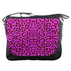 Florescent Pink Animal Print  Messenger Bag