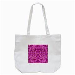 Florescent Pink Animal Print  Tote Bag (White)