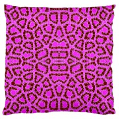 Florescent Pink Animal Print  Standard Flano Cushion Case (One Side)