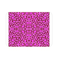 Florescent Pink Animal Print  Double Sided Flano Blanket (mini)