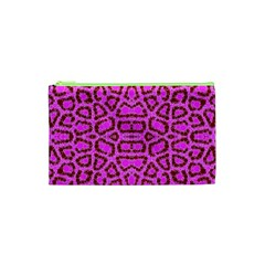 Florescent Pink Animal Print  Cosmetic Bag (XS)