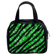 Florescent Green Tiger Bling Pattern  Classic Handbag (two Sides)