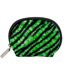 Florescent Green Tiger Bling Pattern  Accessory Pouch (Small)