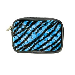 Bright Blue Tiger Bling Pattern  Coin Purse