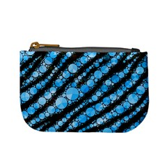 Bright Blue Tiger Bling Pattern  Coin Change Purse