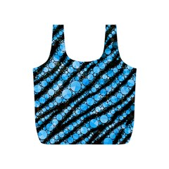 Bright Blue Tiger Bling Pattern  Reusable Bag (S)