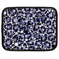 Lavender Cheetah Bling Abstract  Netbook Sleeve (large)