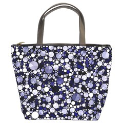 Lavender Cheetah Bling Abstract  Bucket Handbag