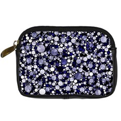 Lavender Cheetah Bling Abstract  Digital Camera Leather Case