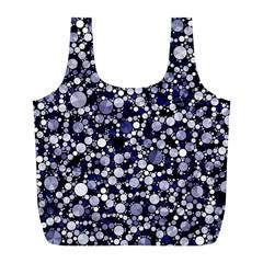 Lavender Cheetah Bling Abstract  Reusable Bag (l)