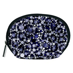 Lavender Cheetah Bling Abstract  Accessory Pouch (Medium)