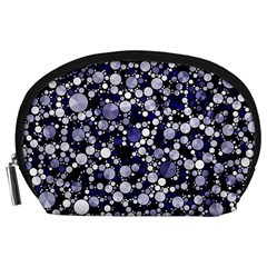 Lavender Cheetah Bling Abstract  Accessory Pouch (large)