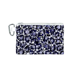 Lavender Cheetah Bling Abstract  Canvas Cosmetic Bag (Small)